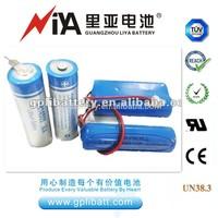 ER14505 aa battery pack 3.6 V 2400mAh primary & dry batteries heat meter battery(ER14250/ER14335/ER34615/ER26500)