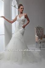 A6546 Guangzhou Stephanie 2012 New Arrival Halter Neckline Tuller Mermaid Wedding gown