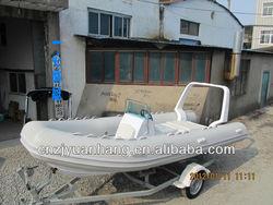 Best fiberglass fishing boat RIB 520