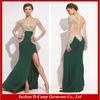 OC-519 Beaded see-through evening dress with long sleeve evening dubai kaftan dress