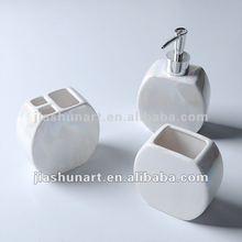 White Ceramic 3 Piece Bathroom Set
