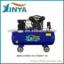 XINYA C-type 100L 8bar 3hp ac piston belt driven air compressor on wheel(XY2065C-100)