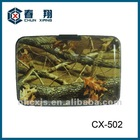 Aluminium card holder case with camouflage printing