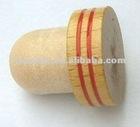 Wooden cap synthetic cork bottle stopper TBW20-grass wood- showpiece