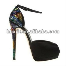 2014 designer crystal heels sexy brand name high heel shoes