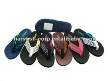 Fashion fabric EVA beach sandals for girls