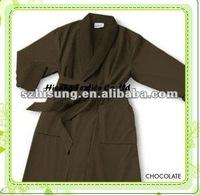 Shawl collar luxurious microfiber dressing gown