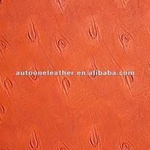 Ostrich skin pu sofa leather A1225