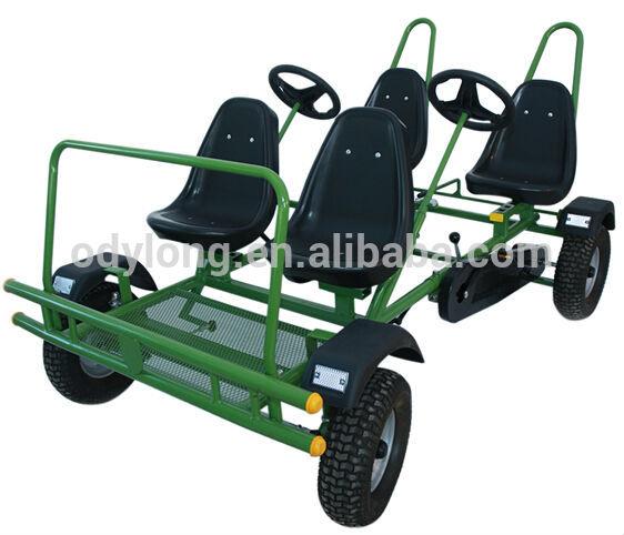 Dual person 4 wheel pedal kart,4 person bike,pedal 4 wheel bike