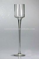 Long stemmed clear unique glass vases wedding centerpiece