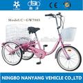 2014 caliente de la venta de tres ruedas triciclo para adultos gw7005-1s