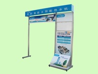 New style Solar collector panel display rack, solar water heat display stand, advertising display stand