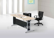 black front oak office desk