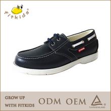 2014 fashion comfortable autumn design leather boat casual shoes
