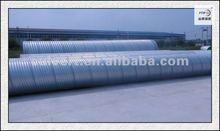 helical corrugated metal culvert tubes