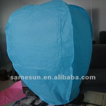 Blue diamond shape flying wish sky lantern