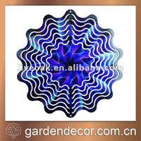 "10"" Print Metal Decorative Wind Spinner"