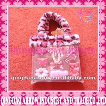 Pretty Hair Accessories In PVC Bag For Girls