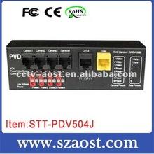 4 Channel Passive Video Balun w/ Power & Data Model:STT-PVD504B brand new