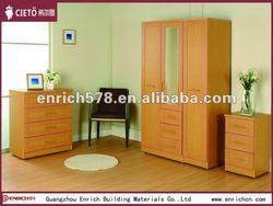 High quality wood veneer bedroom furniture