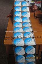 PP/PS lacquered embossed aluminum foil seal film for yoghurt