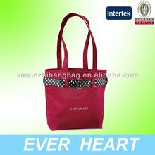 Promotional Polka Dot Tote Microfiber Bag