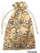 Christmas Santa Claus drawstring satin ornament gift bags