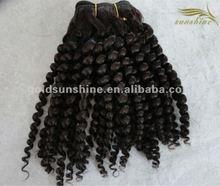 High qualilty 100% wholesale spiral curl human hair suppliers