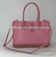 Pink PU handbag 2014 latest design bags women handbag