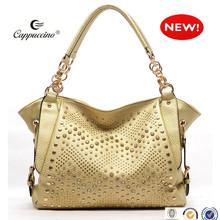 2014 Guangzhou wholesale custom designer south korea bag pu leather handbags fashion