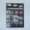 pc 9 3v moeda de lítio baterias