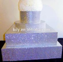 silver bling rhinestone wedding cake stand sticker