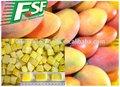 La nueva cosecha de mango congelado iqf reducir a la mitad, frutacongelada manufucture