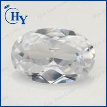 white gemstone in stock wuzhou supply brilliant cut cz