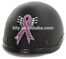 2014 wholesale Rhinestone Helmet Bling Crystal Sticker - Pink Ribbon
