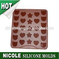 Nicole B0068 manufactory star bear heart shape silicone rubber macaron baking mat