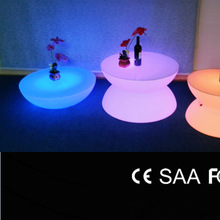 led pub beach round table, plastic led small table