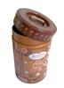 Tin custom design cup shaped round type coffee box