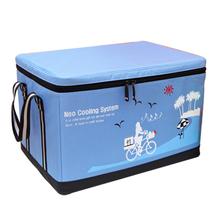 Upscale folding nylon removable shoulder travel insulated lunch bag picnic bag (60L)