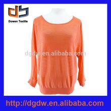 2014 nueva moda naranja de ganchillo suéter modelo para la mujer