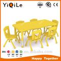 novo design crianças partido tabela e cadeira de jardim de infância de mesa e cadeira em venda quente