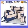 Hot Sales Microfiber Baby Diaper Bag Set Microfiber 5-piece Diaper Bag Set Wholesale