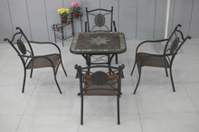furniture outdoor wicker dining table and chairs