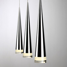 New contemporary silver LED pendant lights
