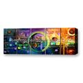 novo design colorido decorativo moderno pinturas abstratas para sala de estar