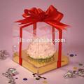Ingrosso piccolo deselezionare la casella di torta di plastica, trasparente di plastica a buon mercato torta contenitore in pvc