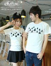 2014 Peijiaxin Casual Style Triangle Printed Fashion Design Couple T shirts