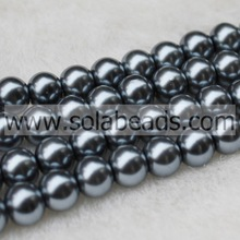 The Factory of Lead Black 10MM Glass Pearl Beads Craft Making
