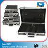 "Black aluminum attache case for 17"" laptop"