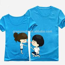 Custom design high quality cotton cute couple t shirts